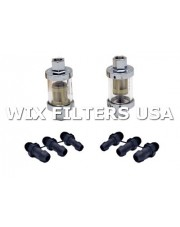 WIX FILTERS 33982 Filtr paliwa Universal in-line fuel filter housing for motorcycle, ATV + mower applications - includes in-line housing w/ plastic mesh fuel filter and three adjustable threaded line sizes (1/4, 5-16, 3/8) - the mesh replacement e