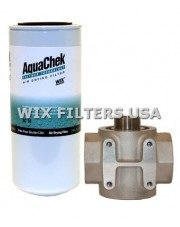 WIX FILTERS ACK30 Absorber AquaChek Water Removal Kit - contains: Mounting Base with 1 1/2 inlet + outlet, One AquaChek Spin-on Filter (Part # AC30), Teflon tape